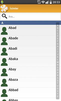 İsimlerin Anlamları - screenshot