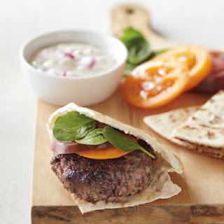 Lamb Burgers With Red Onion–Cumin Sauce