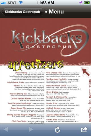 Kickbacks Gastropub- screenshot