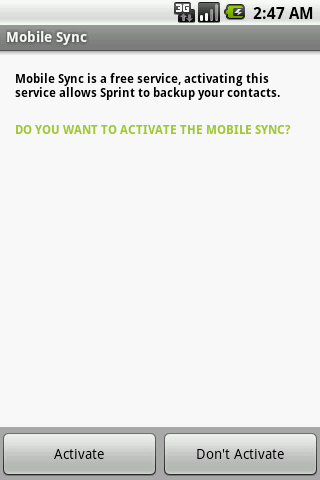 Sprint Mobile Sync - screenshot