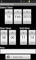 Screenshot of Handy Work Hours (trial)