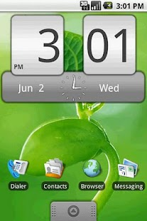 FlipClock Steel 4x2 - screenshot thumbnail