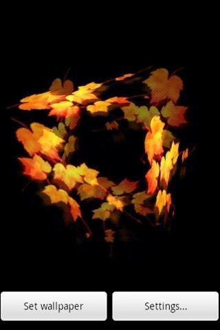 3D lovely Maple Leaf - screenshot