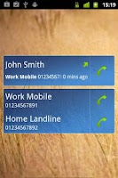 Screenshot of Last Call Widget