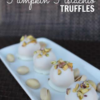 Pumpkin Pistachio Truffles
