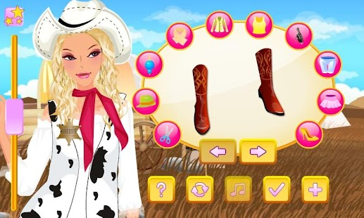 Western Girl Dress Up - screenshot thumbnail
