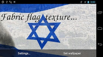 Screenshot of 3D Israel Flag Live Wallpaper+