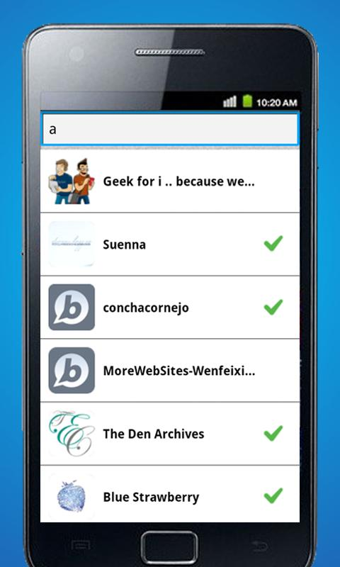 Bloapp- screenshot