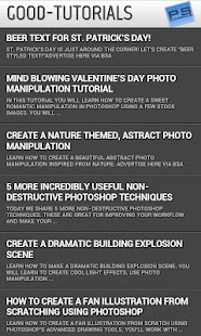 Photoshop Tutorials - screenshot thumbnail