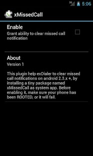 ExDialer xMissedCall Plugin - screenshot thumbnail