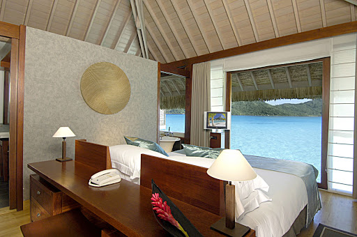 Thalasso_Bora_Bora_villa - For a cruise vacation to remember, the Paul Gauguin sets you down for a stay at the InterContinental Bora Bora Resort & Thalasso Spa.