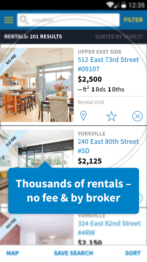 Nyc apartments and real estate android apps on google play for No fee apts nyc