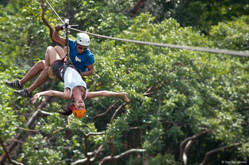 Take a zipline across the forest —upside down? sure! — at Canopy el Nogalito in Puerto Vallarta.