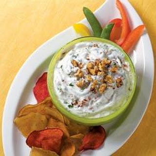 Yogurt, Sun-Dried Tomato, Walnut, and Basil Dip