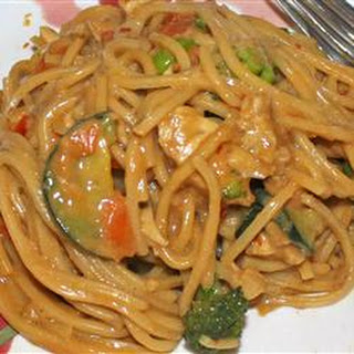 Pasta With Peanut Sauce