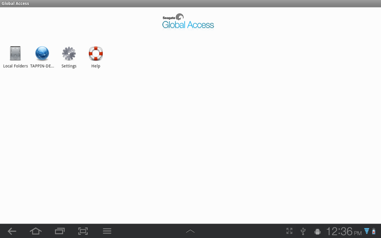Seagate Global Access - στιγμιότυπο οθόνης