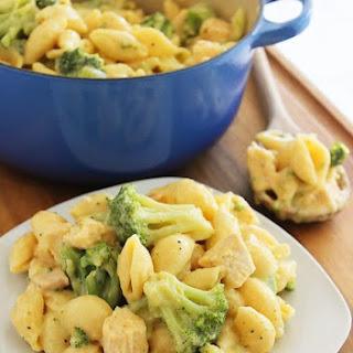Creamy Broccoli Chicken Shells and Cheese