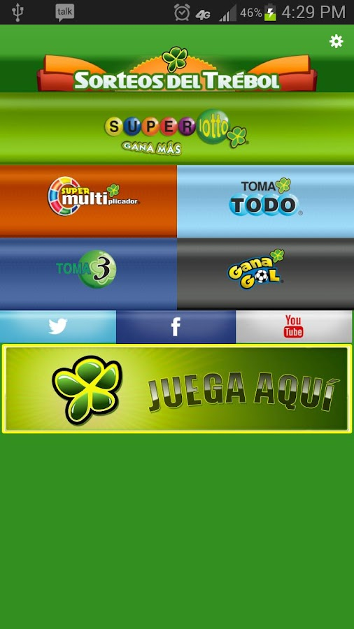 Sorteos del Trébol - screenshot