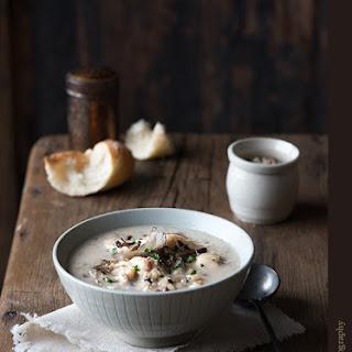Chicken and Wild Rice Mushroom Soup.