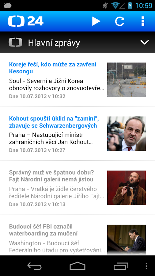 ČT 24 - screenshot