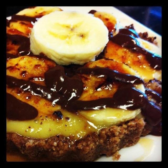 Banana custard brûlée! By far the most amazing gluten free dessert I have ever had!
