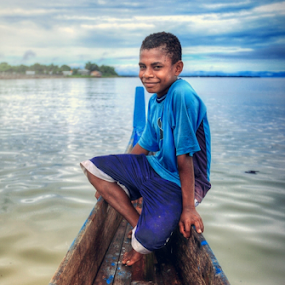 Papua Child by Asep Dedo - People Portraits of Men
