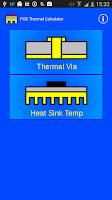 Screenshot of PCB Thermal Calculator