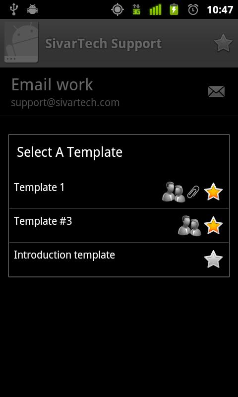 Email Templates- screenshot