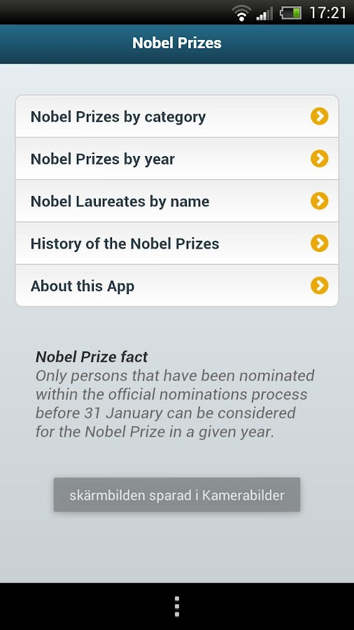 Nobel Prizes- screenshot