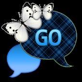 GO SMS - Dark Sky Butterfly
