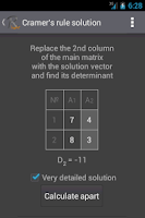 Screenshot of Matrix Calculator R. Light