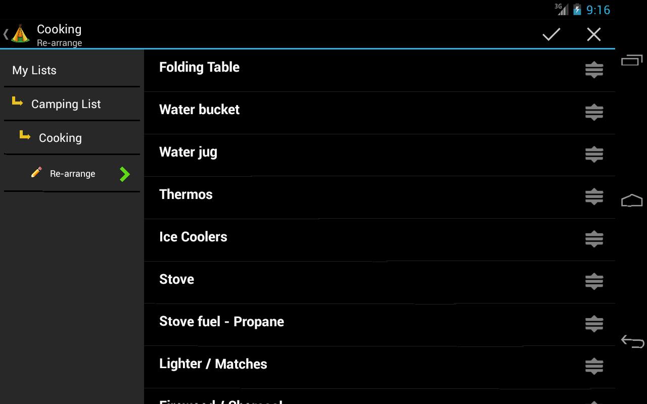 Camping Trip Planner- screenshot