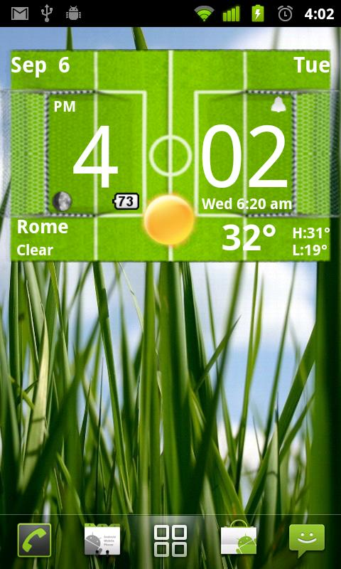 Football Digital Weather Clock - screenshot