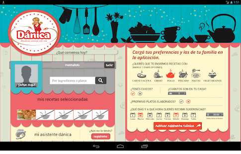 Recetario Dánica - Para Tablet- screenshot thumbnail