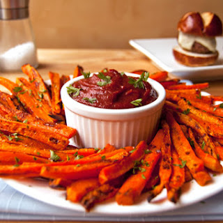 Healthy Baked Carrot Fries.