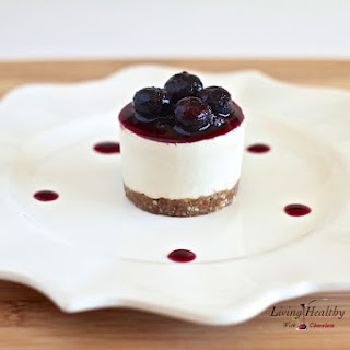Raw, No Bake Blueberry Cheesecake