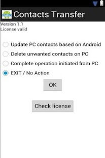 Contacts Transfer Sync Trial
