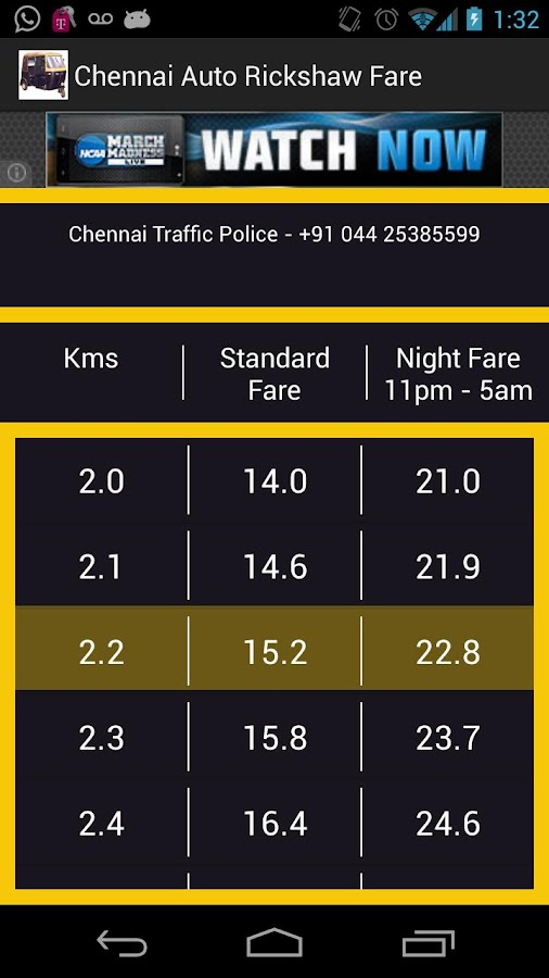 Chennai Auto Rickshaw Fare - screenshot