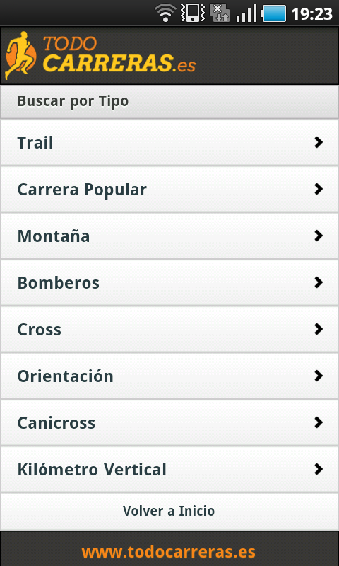 Todo Carreras Populares - screenshot