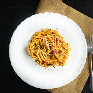 Tuna Pasta with Sun Dried Tomato Pesto