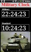 Screenshot of Military Time