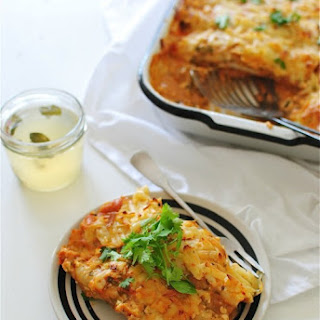 Spicy Chicken and Spinach Enchiladas