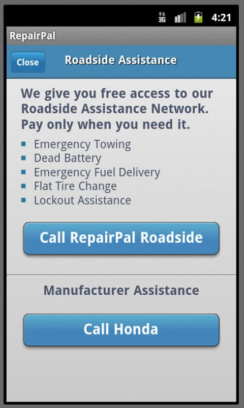RepairPal- screenshot