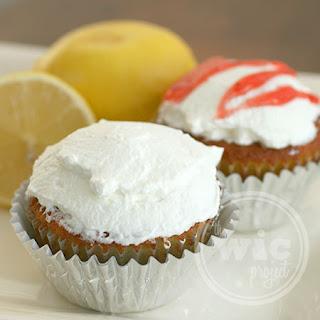 Lemon Strawberry-Filled Cupcakes