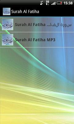 Surah Al Fatiha - screenshot