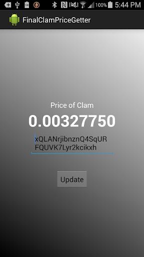 Clamcoin Price Checker