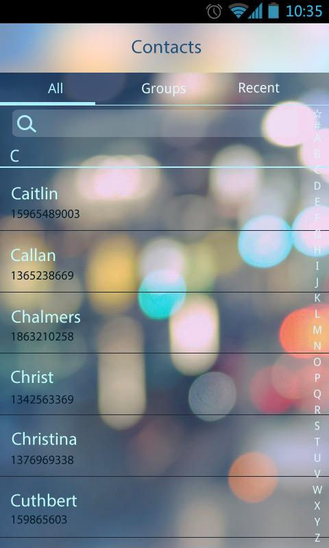 GO SMS Pro Z Glass Theme EX- screenshot