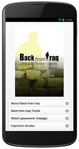 Back from Iraq App