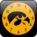 Iowa Hawkeye Clock Widget logo
