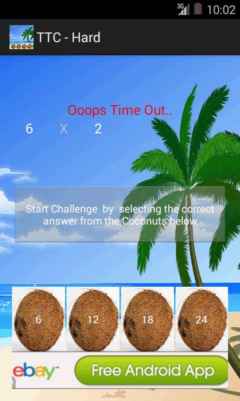 Times Tables NonStop Challenge - screenshot